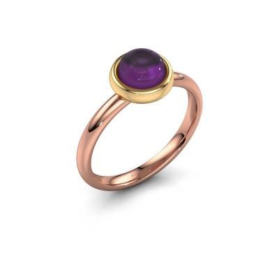 Ring Blossom 585 rosé goud amethist 6 mm