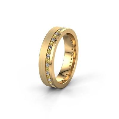 Trouwring WH0303L15BPM 585 goud gele saffier 1.3 mm ±5x2 mm
