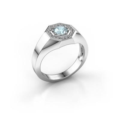 Picture of Men's ring Jaap 950 platinum aquamarine 5 mm