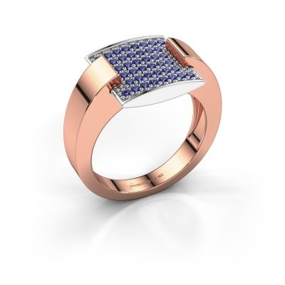 Ring Silke 585 rosé goud saffier 1.2 mm