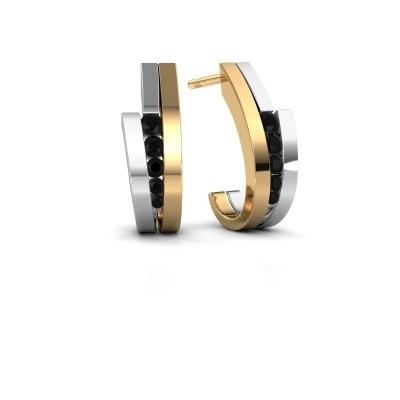 Bild von Ohrringe Cato 585 Gold Schwarz Diamant 0.30 crt