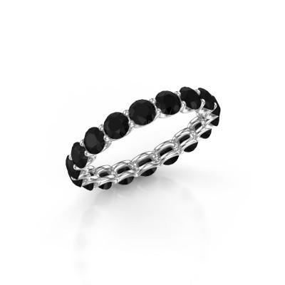 Foto van Ring Kirsten 3.4 585 witgoud zwarte diamant 3.240 crt