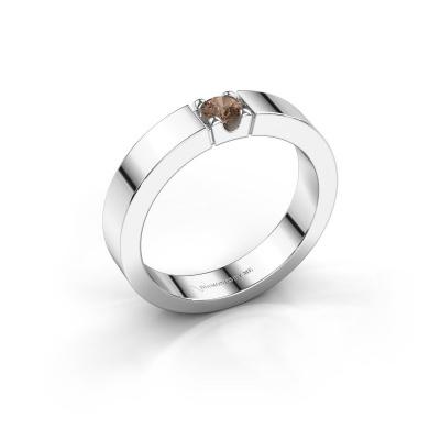 Picture of Engagement ring Dana 1 950 platinum brown diamond 0.20 crt