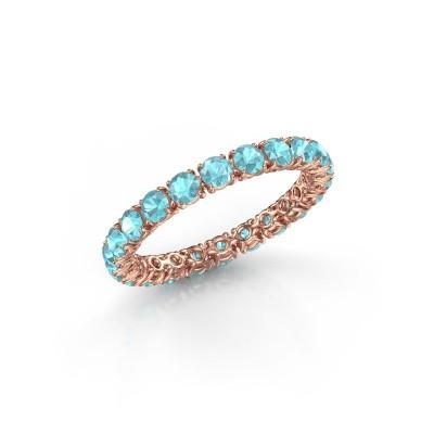 Foto van Ring Vivienne 2.7 375 rosé goud blauw topaas 2.7 mm