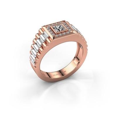 Heren ring Zilan 585 rosé goud zirkonia 4 mm