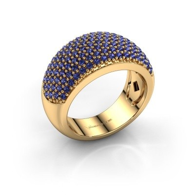 Foto van Ring Kati 375 goud saffier 1.3 mm