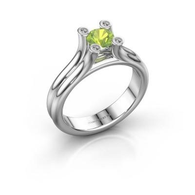 Engagement ring Stefanie 1 950 platinum peridot 5 mm