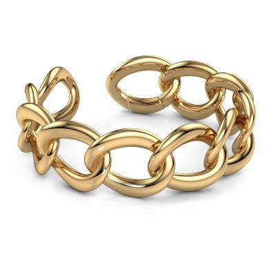 Picture of Flat link bracelet Myrl 25mm 585 gold