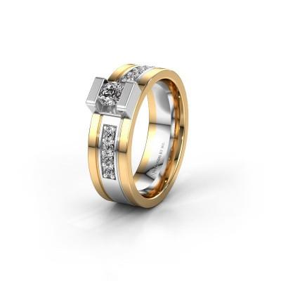 Trouwring WH2092L16BP 585 witgoud diamant ±6,5x2 mm
