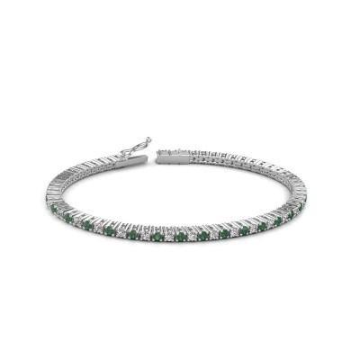 Tennis bracelet Karisma 585 white gold emerald 2.4 mm