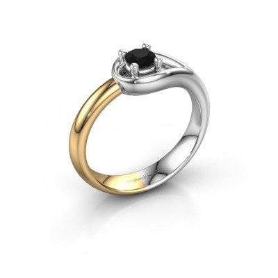Foto van Ring Fabienne 585 witgoud zwarte diamant 0.30 crt