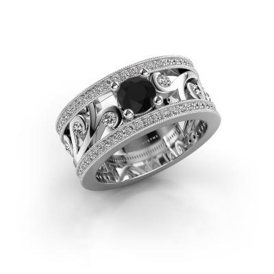 Photo de Bague Sanne 925 argent diamant noir 1.23 crt