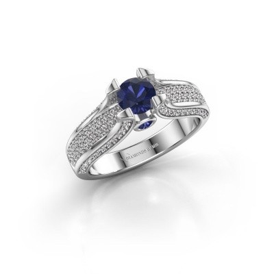 Picture of Engagement ring Jeanne 2 585 white gold sapphire 5 mm
