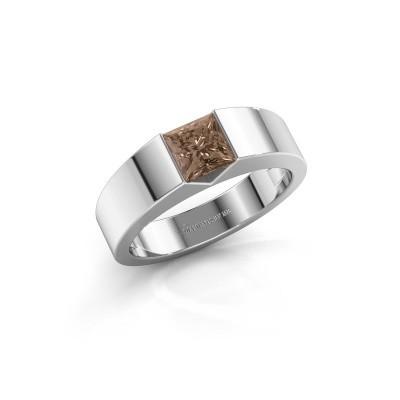 Foto van Verlovingsring Arlena 1 585 witgoud bruine diamant 0.40 crt
