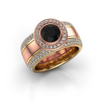 Bild von Ring Roxie 585 Roségold Schwarz Diamant 2.36 crt