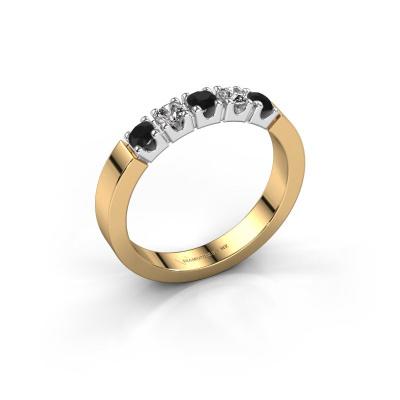 Verlovingsring Dana 5 585 goud zwarte diamant 0.56 crt