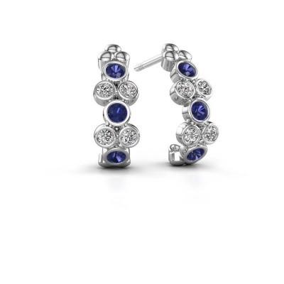 Picture of Earrings Kayleigh 925 silver sapphire 2.4 mm