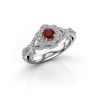 Picture of Engagement ring Cathryn 585 white gold garnet 4 mm