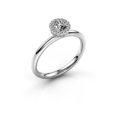 Bild von Verlobungsring Queen 585 Weißgold Diamant 0.38 crt