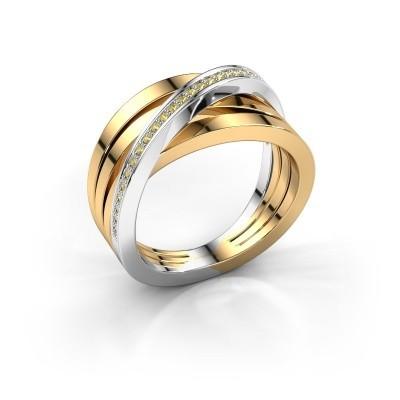 Foto van Ring Esmee 585 goud gele saffier 1 mm
