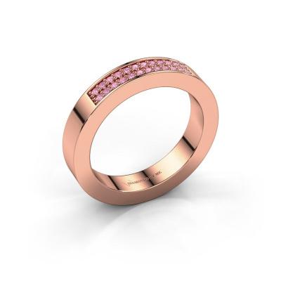 Aanschuifring Catharina 1 585 rosé goud roze saffier 1.1 mm