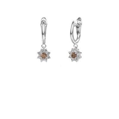 Foto van Oorhangers Camille 1 585 witgoud bruine diamant 0.52 crt