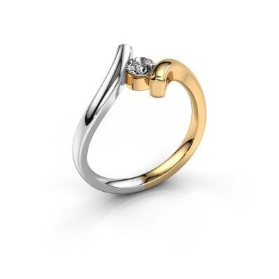 Foto van Ring Amy 585 goud diamant 0.25 crt