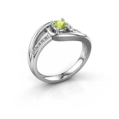 Ring Aylin 950 platina peridoot 4 mm