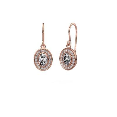 Foto van Oorhangers Layne 1 375 rosé goud diamant 1.66 crt