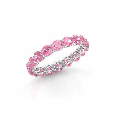 Foto van Ring Kirsten 3.4 950 platina roze saffier 3.4 mm