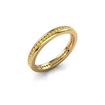Aanschuifring Lura 1 375 goud gele saffier 1.3 mm