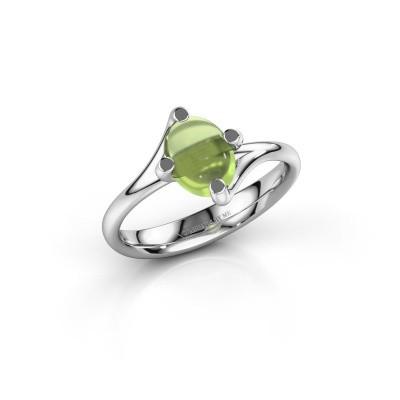 Ring Nora 925 zilver peridoot 8x6 mm