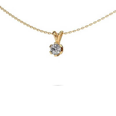 Foto van Ketting Julia 375 goud diamant 0.25 crt