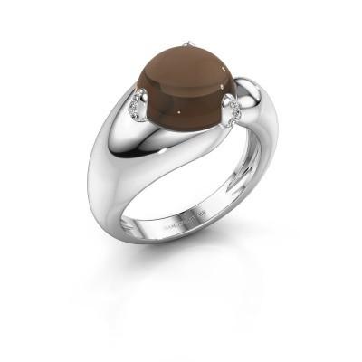 Foto van Ring Pasty 925 zilver rookkwarts 10 mm