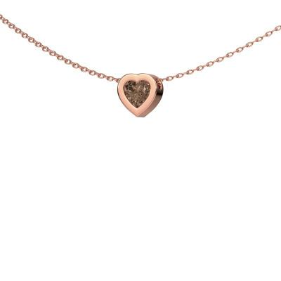 Foto van Hanger Tonja 375 rosé goud bruine diamant 0.50 crt