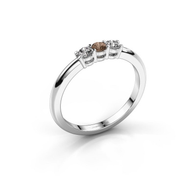 Picture of Engagement ring Michelle 3 950 platinum brown diamond 0.30 crt