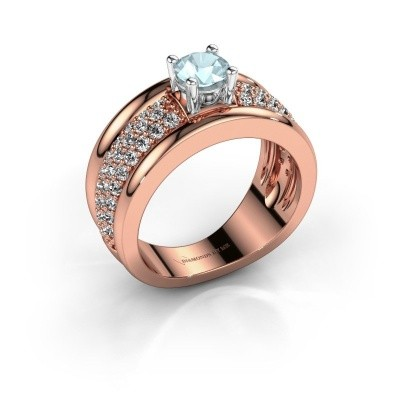 Ring Alicia 585 Roségold Aquamarin 5 mm
