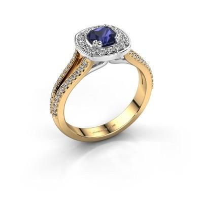 Engagement ring Carolina 2 585 gold sapphire 5 mm