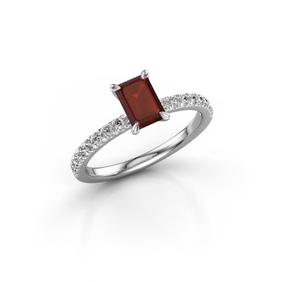Picture of Engagement ring Crystal EME 2 950 platinum garnet 6.5x4.5 mm