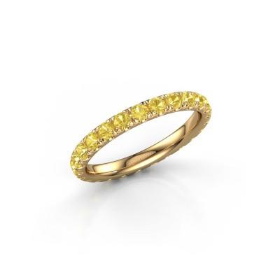 Foto van Ring Jackie 2.3 375 goud gele saffier 2.3 mm
