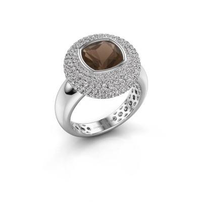 Foto van Ring Keshia 925 zilver rookkwarts 8 mm