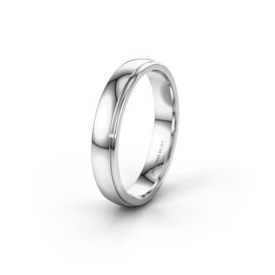 Wedding ring WH0500M24AP 585 white gold ±4x1.7 mm