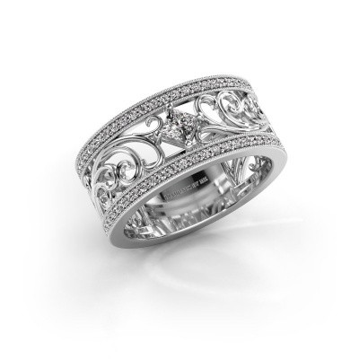 Ring Danae 585 witgoud zirkonia 3 mm