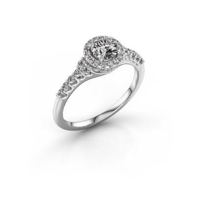 Picture of Engagement ring Loralee 950 platinum zirconia 5 mm