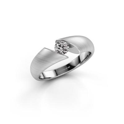 Photo de Bague Hojalien 1 585 or blanc diamant synthétique 0.30 crt