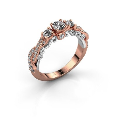 Foto van Verlovingsring Kourtney 585 rosé goud diamant 0.80 crt