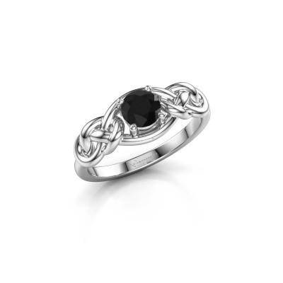 Foto van Ring Zoe 925 zilver zwarte diamant 0.60 crt