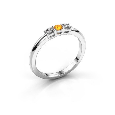 Picture of Engagement ring Michelle 3 585 white gold citrin 3 mm
