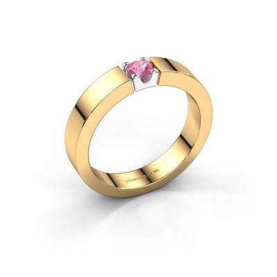 Picture of Engagement ring Dana 1 585 gold pink sapphire 3.7 mm