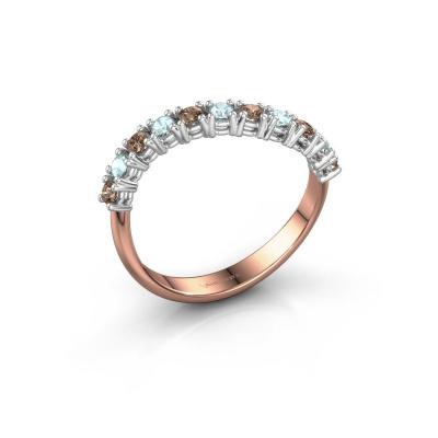 Ring Eliza 585 rosé goud bruine diamant 0.18 crt